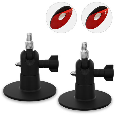 2 Pack Adjustable Wall Mount Compatible with ARLO PRO/PRO2 ultra /PRO3 / ARLO GO / ARLO HD Home Camera Mounting Bracket Outdoor Indoor for Home Security, Black,model:Black 2