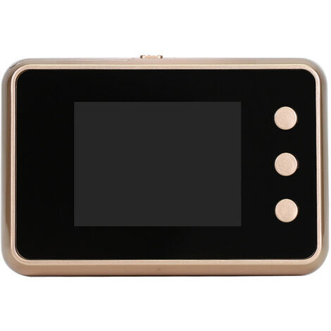 2.8'' Digital Door Viewer Smart LCD Digital Peephole Door Camera Viewer HD Monitor with Night Vision Wide View Angle for Home Security,model:Gold