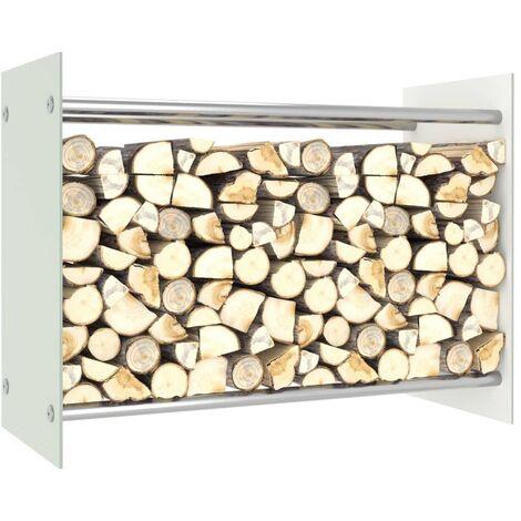 Firewood Rack White 80x35x60 cm Glass