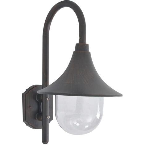 Garden Wall Lamp E27 42 cm Aluminium Bronze