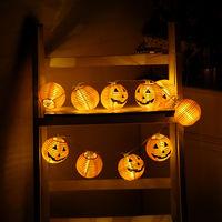 Pumpkin lantern Halloween interior decoration string without battery