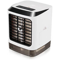 Mini Air Conditioner Air Cooler Humidifier USB Mini Fan with LED Light