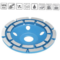 125mm double-row grinding wheel flat tooth grinding wheel diameter 22mm blue