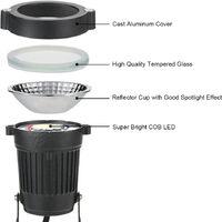 5W 2pcs COB lawn light garden light 500LM IP65 waterproof white