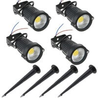 5W 4 Pack COB LED Lawn Lamp Outdoor Decorative Landscape light