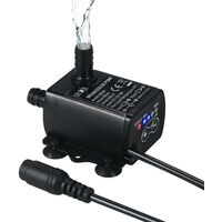 Mini DC Brushless Water Pump with 5.5 * 2.1mm DC Female Plug DC12V 10W
