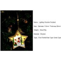 Christmas Decoration Wooden Lighting Pendant Christmas Tree Decoration