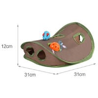 9 Hole Cat Toy Interactive Toy