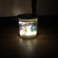 DIY Christmas Borosilicate Snow Decoration Lamp Jar Gift Birthday Gift