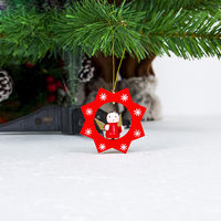 Christmas Tree Ornaments Wooden Pendant 10pcs&1