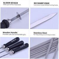 Barbecue Skewer Grilling Kabob Reusable Metal Skewers Silver