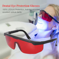 Dental Eye Protection Glasses Tooth Whitening Curing Light UV For Dentist Spectacles Red Lens Goggle Glasses Protective Eye