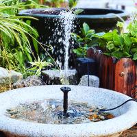6V/3.5W Solar Powered Fountain Pump Water Pump with Adjustable Solar Panel DIY Birdbath Fountain