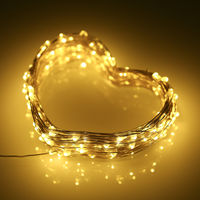 6W 10M/32.8Ft 100 LEDs Solar Powered Energy Copper Wire Fairy String Light Lawn Lamp with 8 Different Lighting Modes