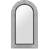 Garden Wall Mirror Arched 60x110 cm Black
