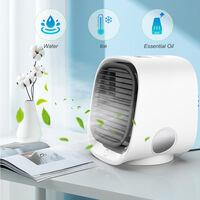 300mL Desktop Air Cooler Fan Small Personal USB 3 Speeds, White