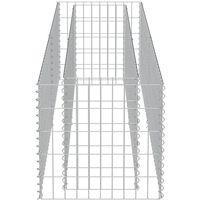 Gabion Planter Galvanised Steel 180x50x50 cm