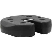 Gazebo Weight Plates 4 pcs Black 220x30 mm Concrete