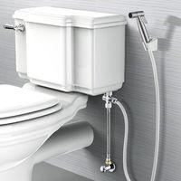 Handheld Shattaf Cloth Diaper Bidet Sprayer Stainless Steel Brushed Bathroom Bidet Spray Set, US 5pcs