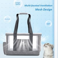 Portable Pet Carrier Pet Travel Bag Designed for Weight within 6kg, Dark gray, S