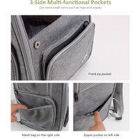 Pet Backpack Carrier Travel Bag Designed for Weight 9kg, Grey