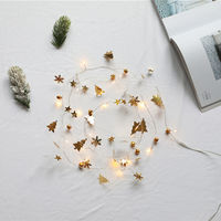 6.56ft 20LEDs Christmas Fairy String Lights Halloween Decorative Hanging Lights Copper Wire Warm White Lights, Christmas tree