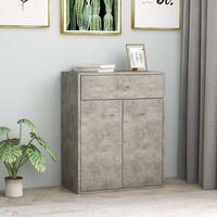 Sideboard Concrete Grey 60x30x75 cm Chipboard