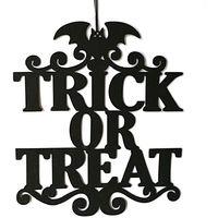 Indoor and Outdoor Halloween Party The Witch Is In Hanging Door Decoration and Wall Sign Trick or Treat