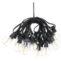 Tomshine Solar Powered G40 7.62m Sockets with Totally 27 Bulbs Warm White IP45 Water-resistant Indoor Outdoor Fairy Hanging Light