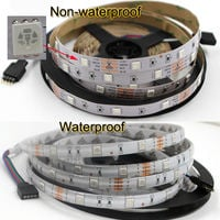 5M LED Strip Lights RGB Color Changing LED Strips with DIY 44 Keys IR Remote Controller and 12V Power Supply, Black , Non Waterproof