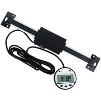 Multi-functional Digital Readout Linear Scale with Remote External Display Linear Ruler Measuring Tool for Mill Lathe(0-150mm)