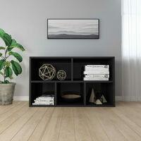 Book Cabinet/Sideboard High Gloss Black 45x25x80 cm Chipboard