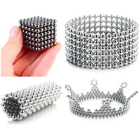 Magnetic Ball Set Magic Magnet Cube Building Toy for Stress Relief, 216 beads, the diameter of each bead is 3mm
