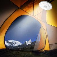 48 LED 3 Brightness Modes Tent Camping Outdoor Umbrella Night Light White Lamp Pole Light Patio Yard Garden Lawn