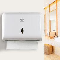 Paper Towel Dispenser No Drilling Wall Mounted Paper Towel Holder Dispenser White