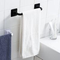 Towel Bar Bath Towel Clothes Hanger Nail-free Wall Mount Towel Rack Holder White , Long