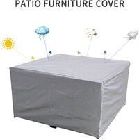 Patio Furniture Cover Garden Table Chair Sofa Cover Waterproof Dust-Proof UV-Resistent Oxford Cloth Protective Cover 213*132*74cm