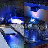 LED Pool Lights Waterproof Solar Powered Garden Pond Light, Blue, Two Bulb
