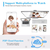 HD POE network camera, support P2P motion detection, 3 infrared night vision dot matrix lights