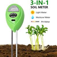 Soil pH tester, electronic soil pH tester, pH, plant moisture, light and hygrometer,green three-in-one