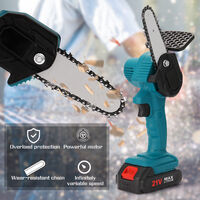Portable electric pruning saw, rechargeable small electric saw 21V shipped without battery without plug, bare metal, blue