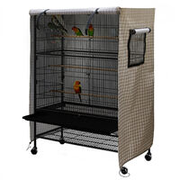 Large birdcage cover, washable birdcage wind and dust cover, brown