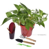 12-piece potted gardening tool set (storage bag, filling bucket shovel, excluding potted plants)