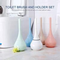 Toilet brush holder set with base toilet brush, green