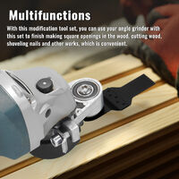Angle Grinder Refit To Cutting Tool Accessories Set Wood Cutting Open Hole Shovel Nails Utility Modification Tool Set Multipurpose Household Woodworking Modification Tool Set,model: for 115 type angle grinder