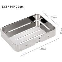 Stainless Steel Soap Dish Drain Soap Holder for Shower Soap Rack for Bathroom Kitchen Bath Tub,model:Silver