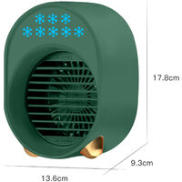 Portable Air Conditioner Rechargeable Air Cooler Fan 3600mah Battery Operated with Function Cooling Humidifier Filtration 3 Speeds Colorful Night Light,model:Pink