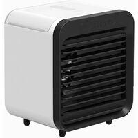 Air Cooler Mini Fan Air Conditioning Fan Air Humidifier Purifier,model:Black & White