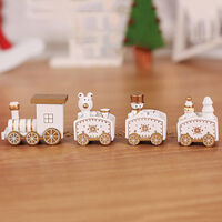 Christmas Decoration Christmas Train with Snowman Train Decor for Christmas Party Christmas Train Ornament Toys for Kids Gift Home Decoration,model:White type 2-white