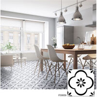 6PC/Set Self Adhesive Retro Tile Stickers Waterproof PVC Removable Wall Stickers Decals DIY Wallpapers for Kitchen Bathroom Home Tidy Protection,model:Multicolor 9
